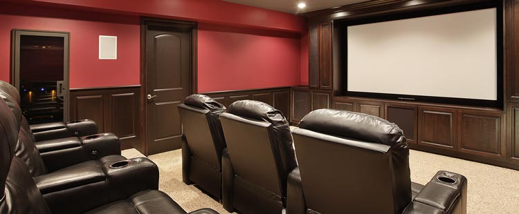 California Media Room Remodeling
